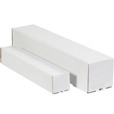 "5 x 5 x 37"" White Square Mailing Tubes"