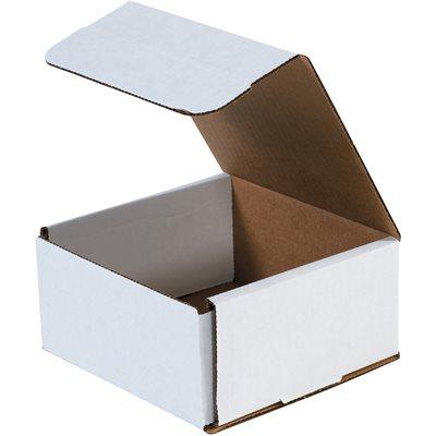 "8 x 8 x 3"" White Corrugated Mailers"