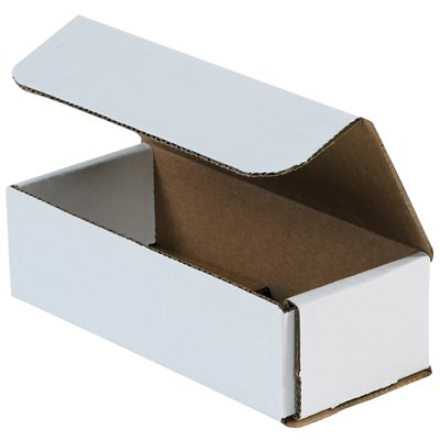 "9 x 5 x 4"" White Corrugated Mailers"