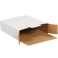 "11 1/8 x 8 5/8 x 2 1/2"" White Side Loading Locking Mailers"