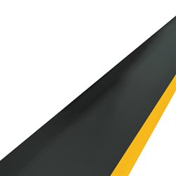 2 1/4 x 5' Black/Yellow Economy Anti-Fatigue Mat