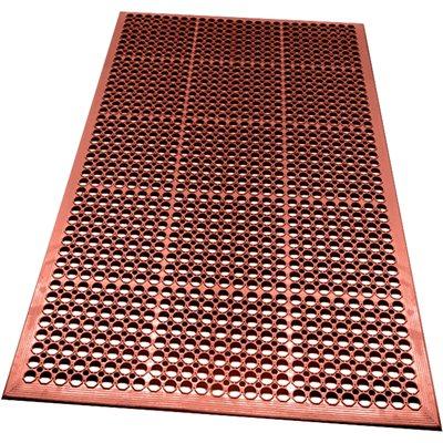 "3 x 5' - 1/2"" - Terra Cotta Slip Resistant Drainage Mats"
