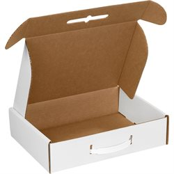 "18 1/4 x 11 3/8 x 4 1/2"" White Corrugated Carrying Cases"