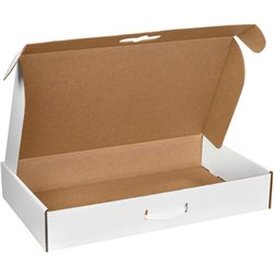 "24 x 14 x 4"" White Corrugated Carrying Cases"