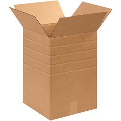 """12 x 12 x 18"""" Multi-Depth Corrugated Boxes"""