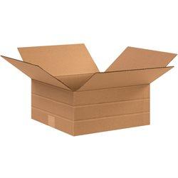 """12 1/2 x 12 1/2 x 6"""" Multi-Depth Corrugated Boxes"""