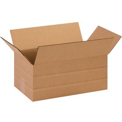 """14 1/2 x 8 3/4 x 6"""" Multi-Depth Corrugated Boxes"""