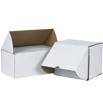 """7 5/8 x 5 7/16 x 3 9/16"""" White Outside Tuck Mailers"""