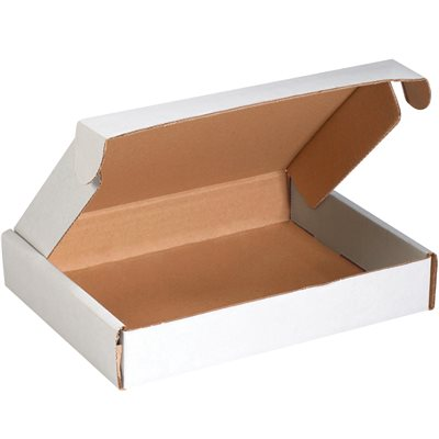 """12 x 8 x 2 3/4"""" White Deluxe Literature Mailers"""