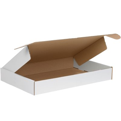 """19 1/8 x 9 1/8 x 2 3/16"""" White Deluxe Literature Mailers"""