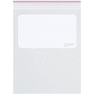 "9 x 12"" - 2 Mil Minigrip® White Block Reclosable Poly Bags"