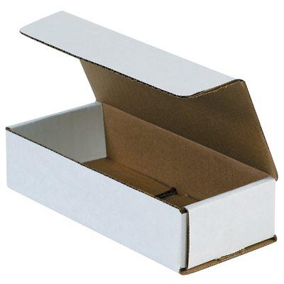 "7 1/2 x 3 1/4 x 1 3/4"" White Corrugated Mailers"