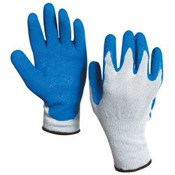 Rubber Coated Palm Gloves - Large