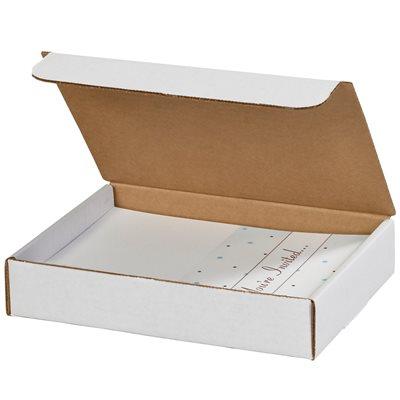 "9 x 6 1/2 x 1 3/4"" White Literature Mailers"