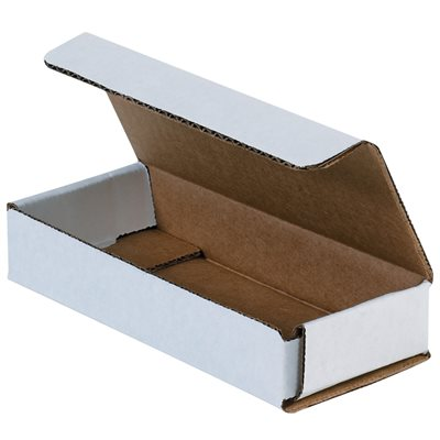 "9 x 6 x 1"" White Corrugated Mailers"