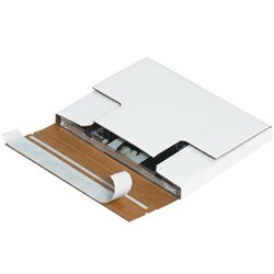 "5 7/8 x 5 1/16 x 1/2"" White Self-Seal CD Mailers"