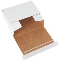 "5 3/4 x 5 1/16 x 1 3/4"" White Self-Seal CD Mailers"