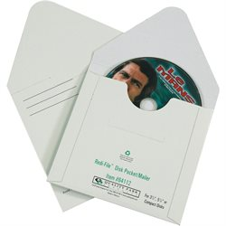 "5 1/8 x 5"" White Fibreboard CD Mailers"