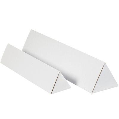 "3 x 18 1/4"" White Triangle Mailing Tubes"