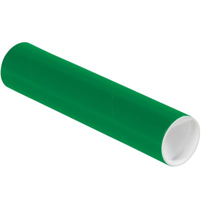 """2 x 9"""" Green Tubes with Caps"""