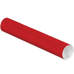 """2 x 12"""" Red Tubes with Caps"""