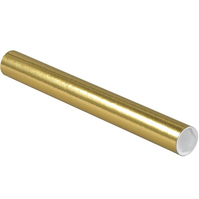 """2 x 18"""" Gold Tubes with Caps"""