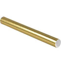 """2 x 20"""" Gold Tubes with Caps"""