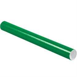 """2 x 20"""" Green Tubes with Caps"""