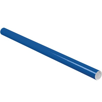 """2 x 36"""" Blue Tubes with Caps"""