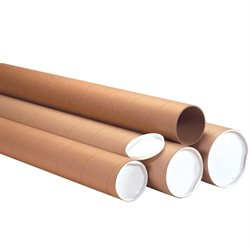 "4 x 36"" Kraft Heavy-Duty Tubes with Caps"