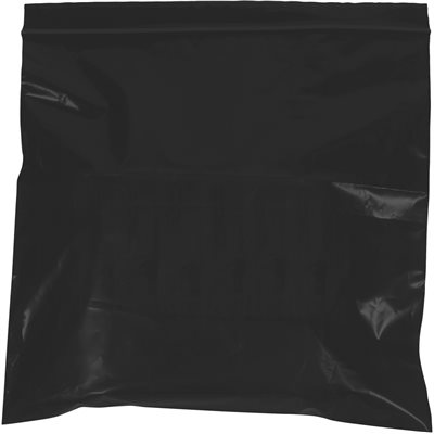 """6 x 9"""" - 2 Mil Black Reclosable Poly Bags"""