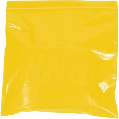 """9 x 12"""" - 2 Mil Yellow Reclosable Poly Bags"""