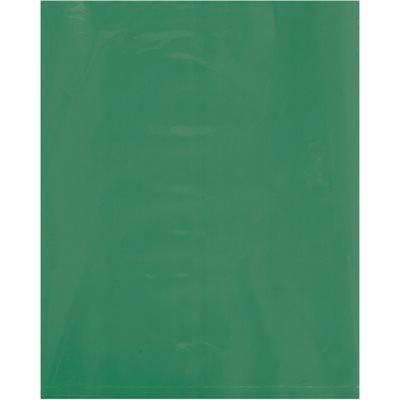 "8 x 10"" - 2 Mil Green Flat Poly Bags"