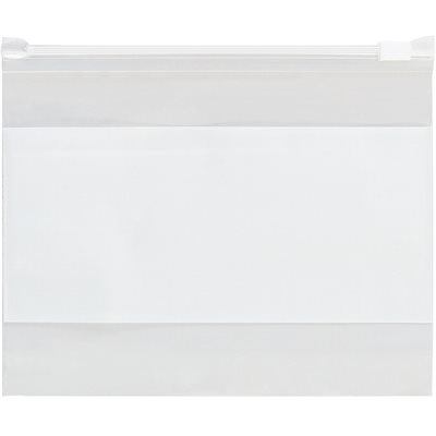 """12 1/2 x 9"""" - 3 Mil Slide-Seal Reclosable White Block Poly Bags"""