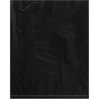 "12 x 15"" - 2 Mil Black Flat Poly Bags"