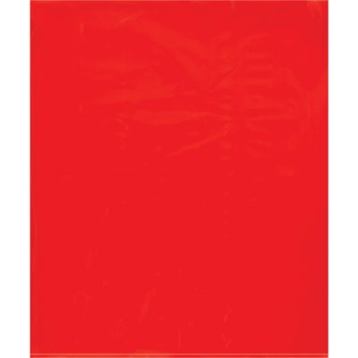 """15 x 18"""" - 2 Mil Red Flat Poly Bags"""