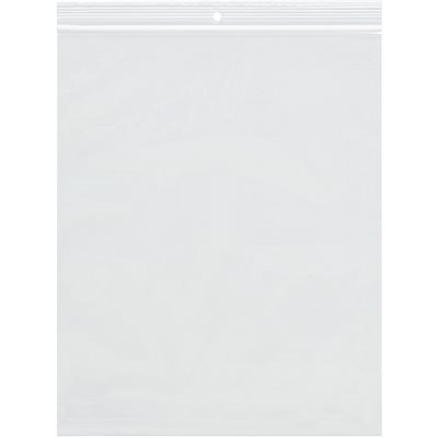 """6 x 8"""" - 2 Mil Reclosable Poly Bags w/ Hang Hole"""
