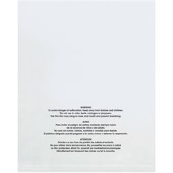 "12 x 18"" - 1 Mil (100 Pack) Flat Suffocation Warning Poly Bags"