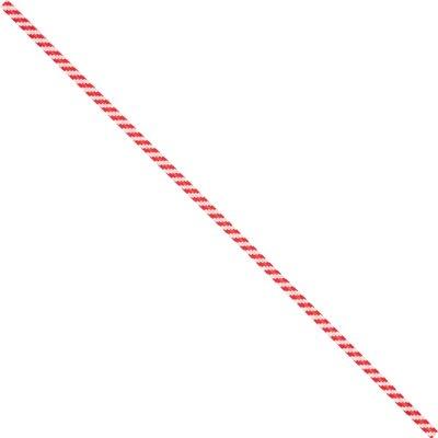 "4 x 5/32"" Red Candy Stripe Paper Twist Ties"