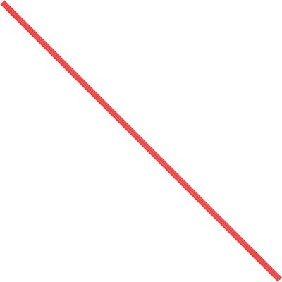 """4 x 5/32"""" Red Paper Twist Ties"""