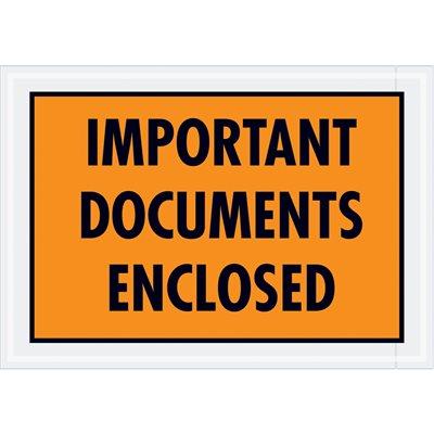 """5 1/2 x 10"""" Red Border """"Airbill Envelope"""" Document Envelopes"""