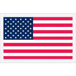 "4 1/2 x 5 1/2"" U.S.A. Flag ""Packing List Enclosed"" Envelopes"