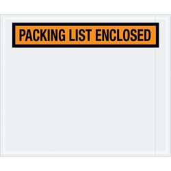 "10 x 12"" Orange ""Packing List Enclosed"" Envelopes"