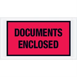 "5 1/2 x 10"" Red ""Documents Enclosed"" Envelopes"