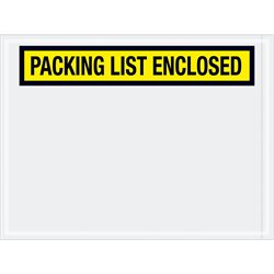"""4 1/2 x 6"""" Yellow """"Packing List Enclosed"""" Envelopes"""