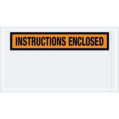 "5 1/2 x 10"" ""Instructions Enclosed"" Envelopes"
