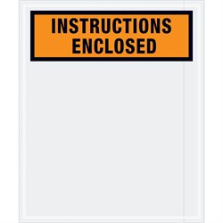 "12 x 10"" Orange ""Instructions Enclosed"" Envelopes"