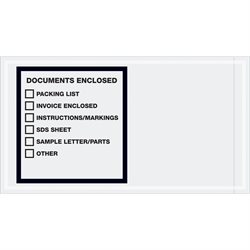 "5 1/2 x 10"" ""Documents Enclosed"" Transportation Envelopes"