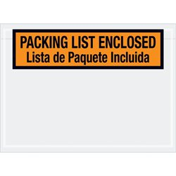 "7 1/2 x 5 1/2"" Bilingual Packing List Envelopes"