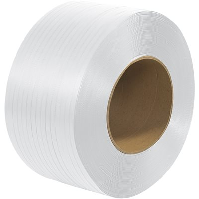 """1/2"""" x 7200' - 8 x 8"""" Core Machine Grade Polypropylene Strapping - Embossed"""